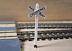 Transition Cross Bucks (wooden kit) -- HO Scale Model Railroad Trackside Accessory -- #1009