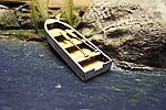 16' Rowboat (2) (wooden kit) -- N Scale Model Railroad Vehicle -- #3005
