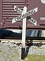 1st Generation Crossbucks (wooden kit) -- N Scale Model Railroad Trackside Accessory -- #3037
