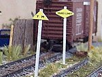 Yard Limit Signs (wooden kit) -- N Scale Model Railroad Trackside Accessory -- #3053