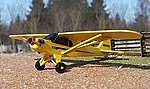 Piper J-3 Cub (wooden kit) -- N Scale Model Railroad Vehicle -- #3089