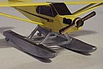 Piper Cub Float Kit -- N Scale Model Railroad Plane Kit -- #3091