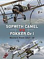 Sopwith Camel vs Fokker Dr I Western Front 1917-18 -- Authentic Scale Model Airplane Bo -- #d7