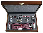 Wood Box Set w/MIL - all three heads -- Airbrush and Airbrush Set -- #mil-3w