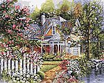 Victorian Cottage (16''x20'') -- Paint By Number Kit -- #21676