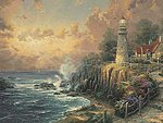 Thomas Kinkade The Light of Peace (Lighthouse)(20''x16'') -- Paint By Number Kit -- #21786
