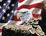 Spirit of Freedom (Eagle & American Flag)(20''x16'') -- Paint By Number Kit -- #22043