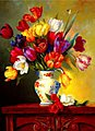 Tulips on Parade(16''x20'') -- Paint By Number Kit -- #22049