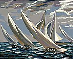 Smithsonian American Art Racing Sailboats (16''x20'') -- Paint By Number Kit -- #22084