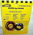 Radiator Hose, Red Heater Hose, Red Battery Cable -- Plastic Model Engine Detail -- #1012
