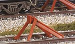 North American-Style Code 83 Hayes Bumper 2-Pack -- Model Train Track -- HO Scale -- #sl8340