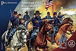 American Civil War Calvary (12 Mtd) -- Plastic Model Military Figure -- 28mm -- #102