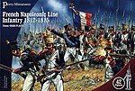 French Napoleonic Line Infantry 1812-15 (42) -- Plastic Model Military Figure -- 28mm -- #201