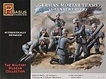 German Mortar Set (23) -- Plastic Model Military Figure -- 1/72 Scale -- #7204