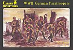 WWII German Paratroopers (38) -- Plastic Model Military Figure -- 1/72 Scale -- #c068