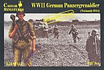 WWII German Panzer Grenadier Normandy 1944 -- Plastic Model Military Figure -- 1/72 Scale -- #c7716