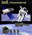 Astronaut and Spacecraft -- Space Program Plastic Model -- 1/72 Scale -- #hb022