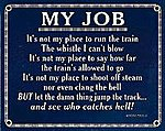 Sign ''My Job'' 8 x 10''