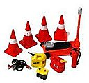 Cones, Jack, Jumper Cables, Gas/Oil Containers, Battery -- Plastic Model Diorama -- 1/24 -- #16052