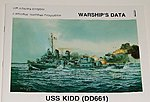 USS Kidd DD661 -- Authentic Scale Model Boat Book -- #293
