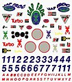 Pinewood Derby Sponsor & Number Decal -- Pinewood Derby Decal and Finishing -- #p306