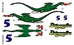 Pinewood Derby Dragonfire Decal -- Pinewood Derby Decal and Finishing -- #p308