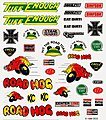 Pinewood Derby Off-Road Dry Transfer Decals -- Pinewood Derby Decal and Finishing -- #p315