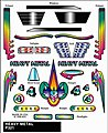 Pinewood Derby Heavy Metal Stick-On Decal -- Pinewood Derby Decal and Finishing -- #p321