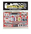Pinewood Derby Racer Accessories Dry Transfer -- Pinewood Derby Decal and Finishing -- #p4013