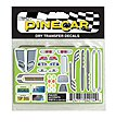 Pinewood Derby Racer Accents Dry Transfer -- Pinewood Derby Decal and Finishing -- #p4014