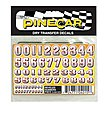 Pinewood Derby Beveled Numbers Dry Transfer -- Pinewood Derby Decal and Finishing -- #p4015