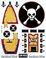 SailBoat Racer Dry Transfer Barracuda