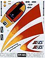 SailBoat Racer Dry Transfer Comet