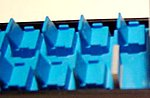 Blue Coach Seats for Passenger Cars (72) -- HO Scale Model Railroad Scratch Supply -- #4103