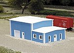 Office & Warehouse Building Kit -- N Scale Model Railroad Building -- #8017