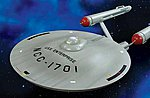 Star Trek USS Enterprise Smooth Saucer -- Science Fiction Plastic Model -- 1/350 Scale -- #mka15