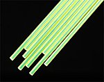 Fluorescent Green Acrylic Rod 3/32 x 10'' (8) -- Model Railroad Scratch Supply -- #90262