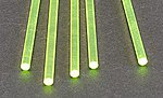 Rod Round Fluorescent Green 5/32 (5) -- Model Scratch Building Plastic Rods - #90264
