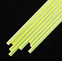 Fluorescent Rod 3/32 (8) -- Model Scratch Building Plastic Rods -- #90282