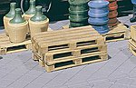 Pallets (4 Pack) -- G Scale Model Railroad Building Accessory -- #333201