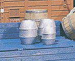 Beer Barrels (4 Pack) -- G Scale Model Railroad Building Accessory -- #333202