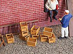Crates (10 Pack) -- G Scale Model Railroad Building Accessory -- #333208