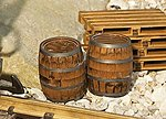 Wooden Barrels 2/ - G-Scale (2)