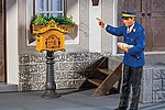 Letterbox with Post -- G Scale Model Railroad Figure -- #333217