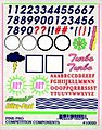 Numbers & Letters Decal -- Pinewood Derby Decal and Finishing -- #10020