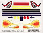 Flames & Fang Mini Decal -- Pinewood Derby Decal and Finishing -- #10026