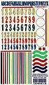 Numbers/Stripes Decal 5''x8'' -- Pinewood Derby Decal and Finishing -- #10211