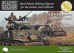 WWII Allied M4A3 (Late) Sherman Tank (5) -- Plastic Model Tank Kit -- 15mm -- #1516