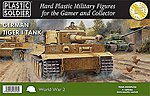 German Tiger I (4) & Crew -- Plastic Model Tank Kit -- 15mm -- #1520