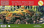 WWII German SdKfz 251/D Halftrack (3) & Crew (24) -- Plastic Model Halftrack Kit -- 1/72 -- #7211